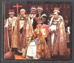 PITCAIRN ISL Sc# 177 MNH VF SS Queen Elizabeth II Coronation