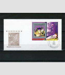 CONGO 1992 Space Laika Dog 1v Perforated in official FDC