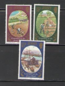 Jersey Sc 226-8 1980 Potato Harvest stamps mint NH