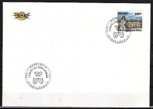 Iceland, Scott cat. 847. Theater Centennial issue. First day cover. ^