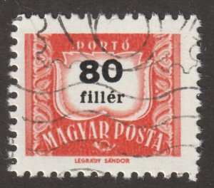 Hungry, Scott#J261, Magyar Posta, Hungry used, Hr,  #J261