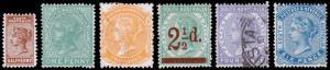 South Australia Scott 96-101 (1893) Mint/Used H VF Complete Set, CV $185.25 M
