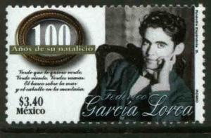 MEXICO 2078, Federico Garcia Lorca, Birth Cent. MINT, NH. VF. (69)