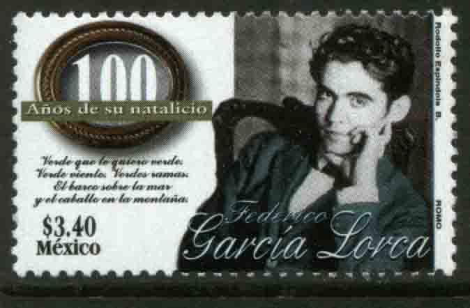 MEXICO 2078, Federico Garcia Lorca, Birth Cent. MNH (69)
