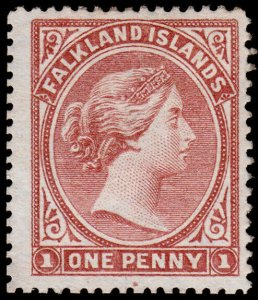 Falkland Islands Scott 7 (1886) Mint H F-VF, CV $95.00 M