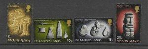 Pitcairn Is  119 - 122  (SG 116/9) Archaeology Artifacts - MNH - VF - CV$4.95