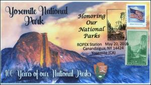 2016, ROPEX, National Parks, Yosemite, Pictorial, 100 year Anniv, 16-116