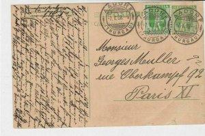 switzerland 1908 stamps card ref 20367