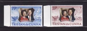 Tristan da Cunha 178-179 Set MNH Elizabeth II Wedding (A)