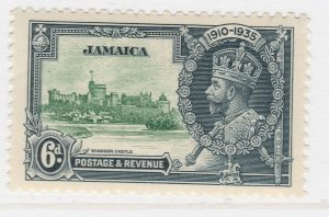 British Colony Jamaica Silver Jubilee 1935 6d MH* Stamp A22P19F8961