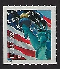 Catalog # 3975 Single Stamp Lady Liberty and US Flag ATM