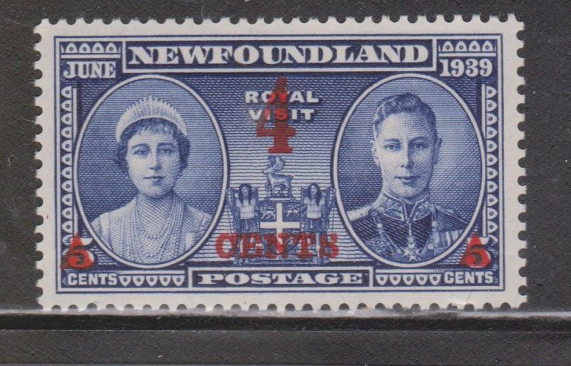 NEWFOUNDLAND Scott # 251 - MH Error 'OENTS' Variety In Overprint