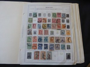 Uruguay 1877-1978 Stamp Collection on Album Pages
