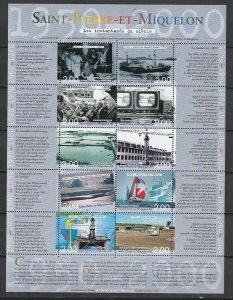 2000 St. Pierre and Miquelon - Sc 697 - MNH VF - 1 MS - Millennium