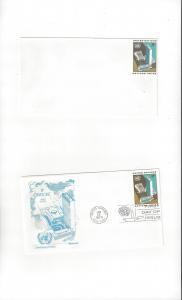 United Nations U5  Postal Stationery,  Mint & Fleetwood Cachet