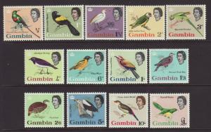 1963 Gambia Defin Set Mounted Mint SG193/205