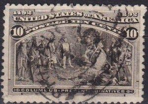 US #237 F-VF Used CV $8.00 (Z2432)