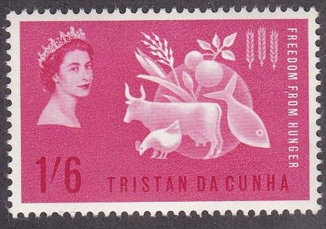 Tristan da Cunha # 68, Freedom from Hunger, Mint NH, 1/2 Cat.