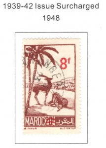 French Morocco Scott 244 Used surcharged camel stamp