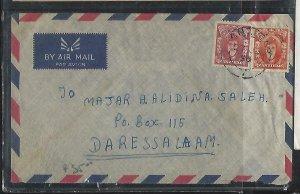 ZANZIBAR  (PP2608B)  1956   10C+20C A/M TO DAR ES SALAAM