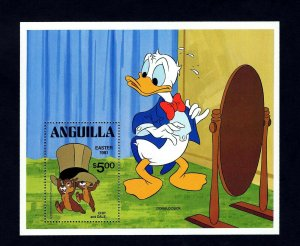 ANGUILLA - 1981 - DISNEY - EASTER - DONALD DUCK - CHIP 'n DALE - MINT S/SHEET!