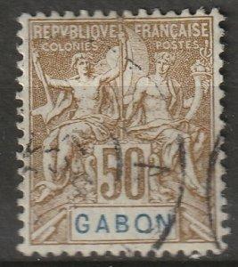 Gabon 1904 Sc 28 used