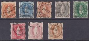Switzerland #82b-8b F-VF Used CV $479.50 (A8751)