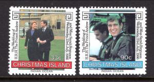 Christmas Island 187-188 Royal Wedding MNH VF