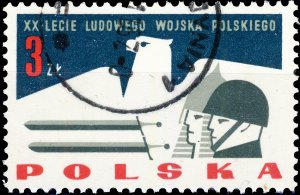 POLAND / POLEN - 1963 Mi.1432 3Zl 20yrs People's Army - VF Used