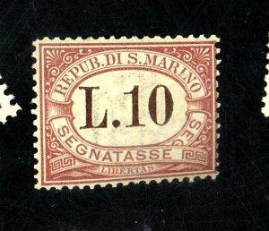 San Marino #J9 MINT Fine OG NH Cat$40