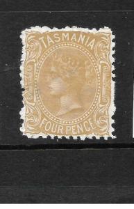 TASMANIA  1871-78  4d  BUFF     QV   MH       SG 153