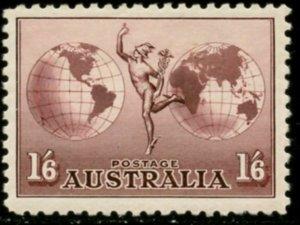 AUSTRALIA Sc#C4 SG#153 1934 Mercury & Globes Airmail Unwmkd OG Mint Hinged