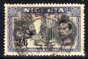 Nigeria 1947 KGV1 2/-6d Deep Blue Perfs 13 ½ SG  58ab CV £55 ( J299 )