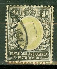 East Africa & Uganda 22 used fault CV $22.50