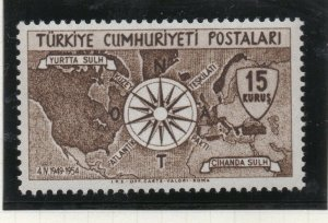 Turkey 1954 Early Issue Fine Mint Hinged 15k. NW-18193