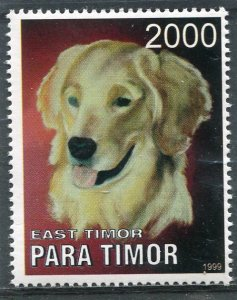 Timor (East) 1999 DOG 1 value Perforated Mint (NH)