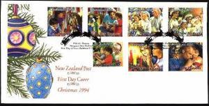 NEW ZEALAND 1994 Christmas commem FDC - special Santa cancel...............98238