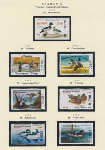 ALABAMA HUNTING PERMIT STAMPS 1979-1999 CV $223 BS6373