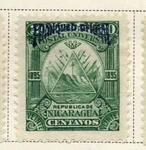 Nicaragua 1895 Early Issue Fine Mint Hinged 20c. Official Optd 323741