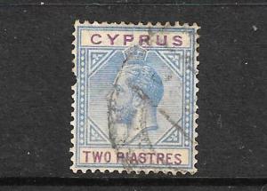 CYPRUS 1921-23  2pi  KGV   FU  SG 92