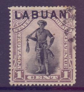 North Borneo Labuan Scott 49 - SG62, 1894 1c used CTO