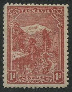 Tasmania 1902 Scenic Views 1d dull red mint o.g.