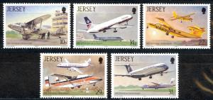 Jersey Sc# 418-422 MNH 1987 Jersey Airport 50th