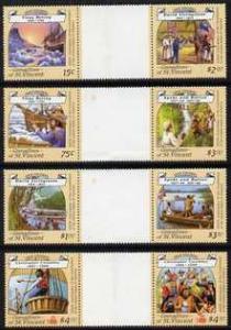 St Vincent - Grenadines 1988 Explorers set of 8 in 4 se-t...