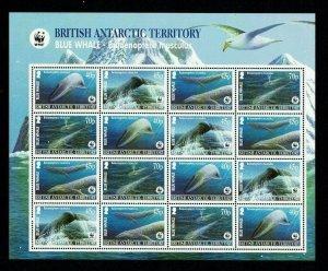 British Antarctic Territory: 2003 Endangered Species, Blue Whale, Sheetlet, MNH