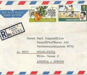 UGANDA Air Mail Cover Kampala *Kasangati* MIVA MISSIONARY Austria 1976 CA384
