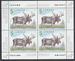 CANADA 2003 $5 Moose - sheetlet fine used...................................J938
