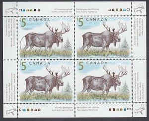 CANADA 2003 $5 Moose - sheetlet fine used...................................J938