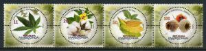 Macedonia 2017 MNH Flora Cannabis Papaver 4v Strip Flowers Plants Stamps