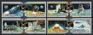 Cook Isls 1007-1010,1011,MNH.Michel 1269-1276,Bl.188.Moon landing,20th Ann,1989.